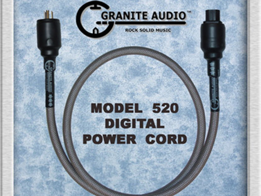 Granite Audio 520 Digital Power Cord 5ft New 2012 Product..NIB