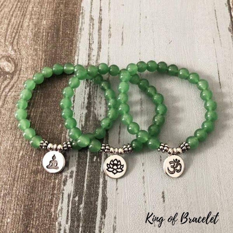 Bracelet de Lithothérapie en Aventurine Verte - King of Bracelet