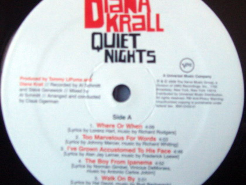 ★Audiophile 180g★ Verve Records / DIANA KRALL, - Quiet Night, MINT!