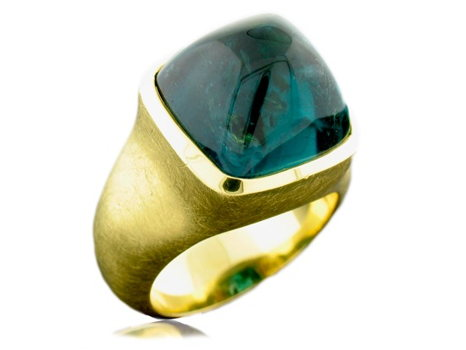 18k Gold Tourmaline Ring by the Cayen Collection