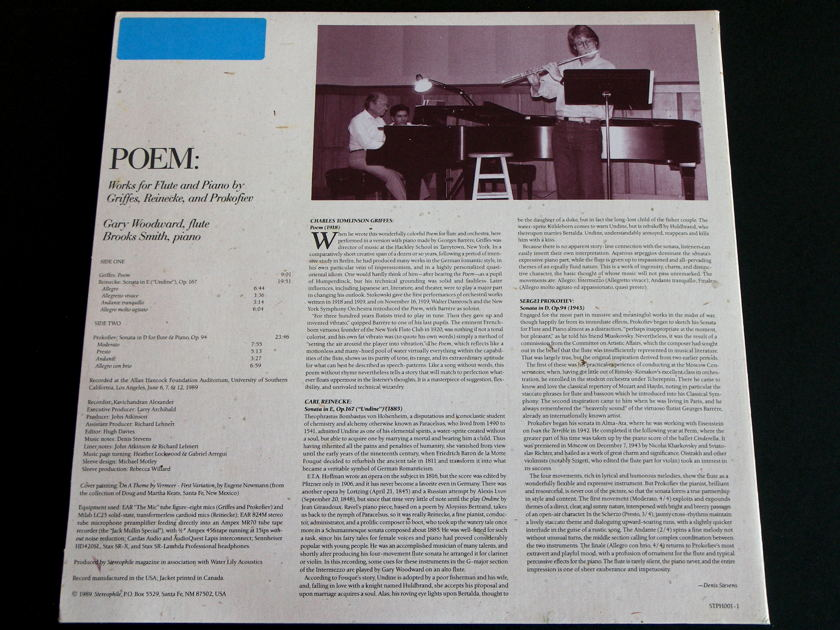 Stereophile - Poem: Works for Flute and Piano - Griffes, Reinecke and Prokofiev Water Lily Acoustics vinyl LP