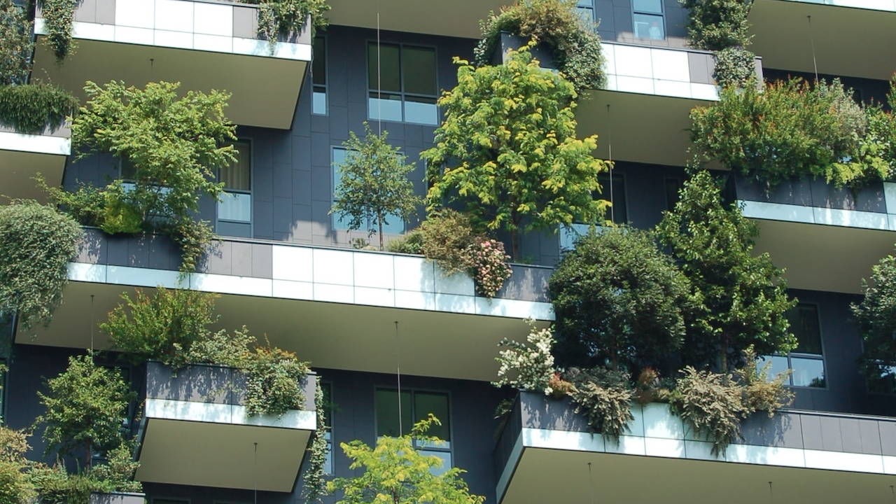 Lejligheder med frodige grønne altaner