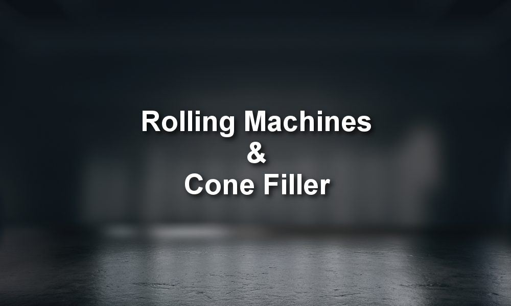 The Best Rolling Machines and Cone Filler on the market