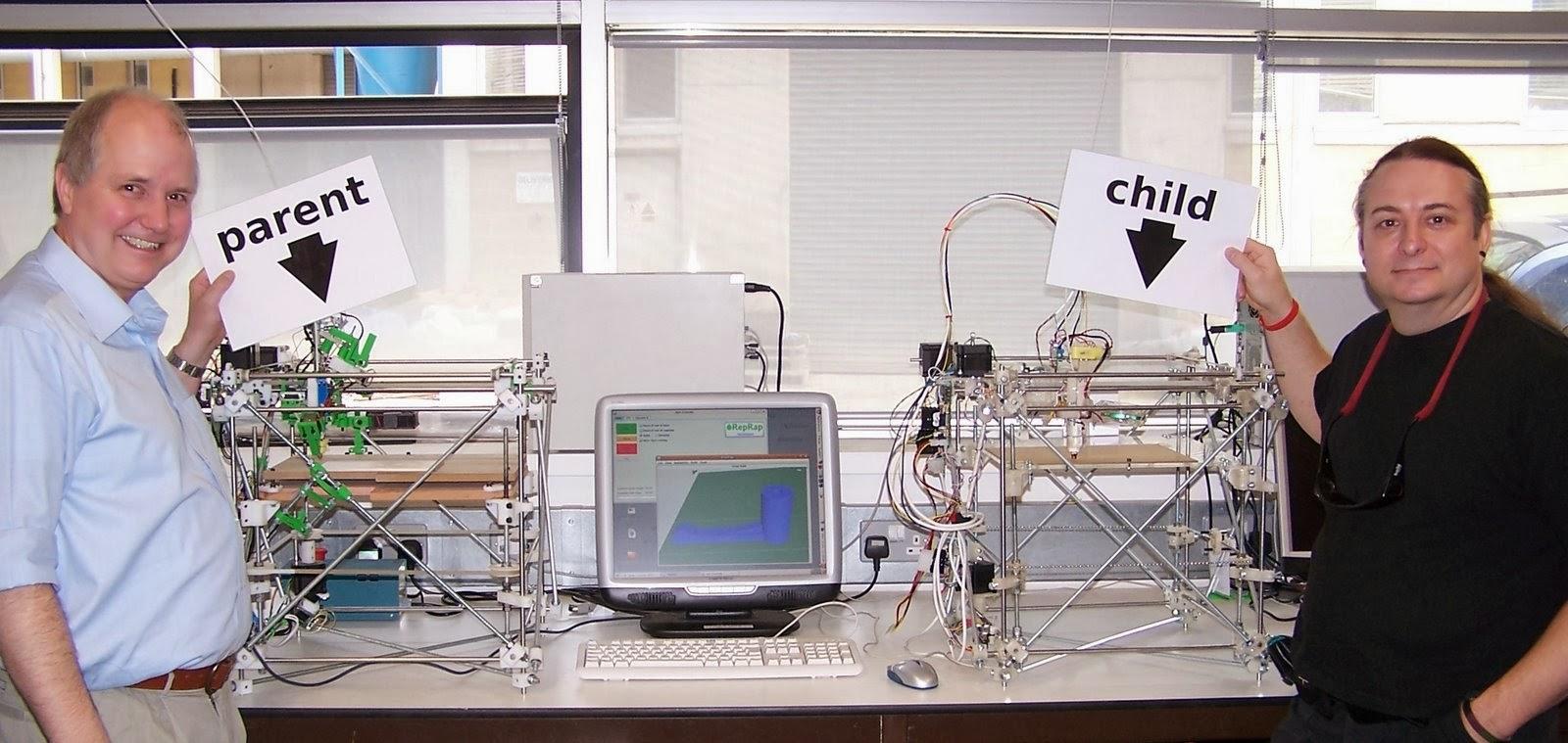 Эдриан Боуер, 3D-принтер отец и 3D-принтер сын