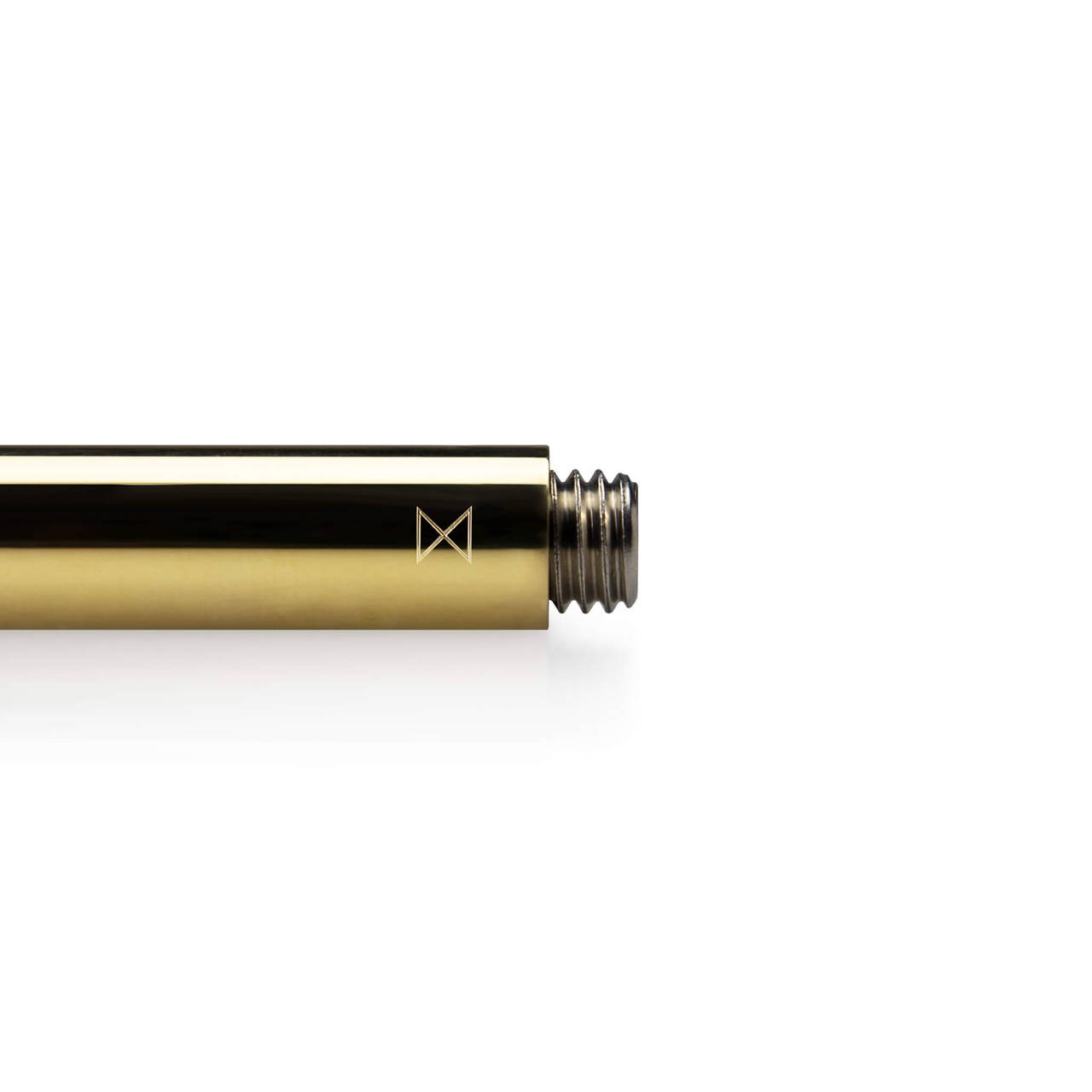 Polished Brass Travel Pen Monogram end detail