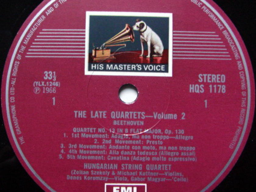 EMI HMV STAMP-DOG / HUNGARIAN QT, - Beethoven The Late quartets, NM!