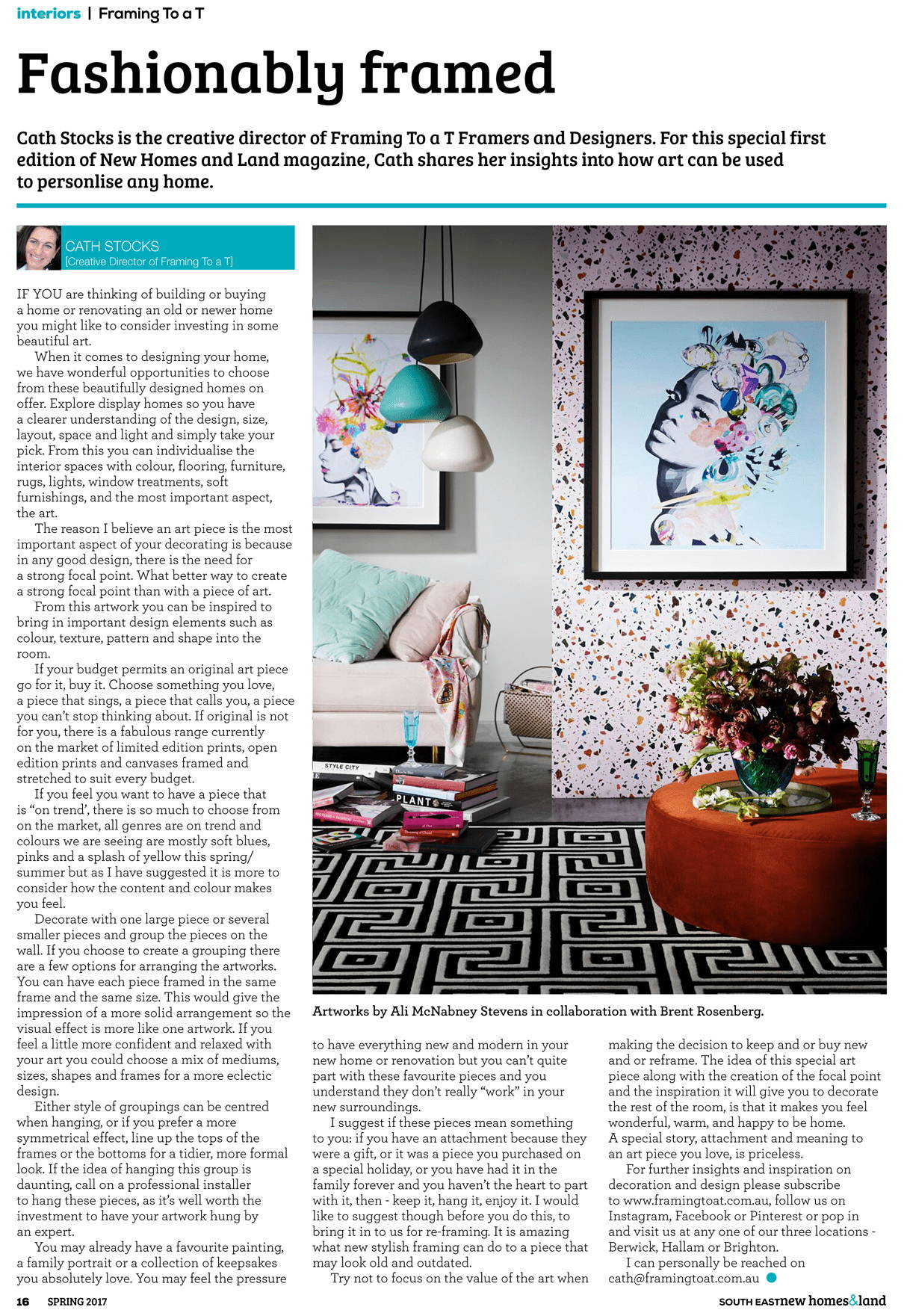 The Block Magazine Inside Spread