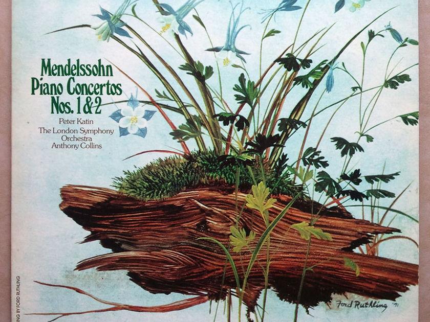 London ffrr | PETER KATIN/MENDELSSOHN - Piano Concertos Nos. 1 & 2 / NM