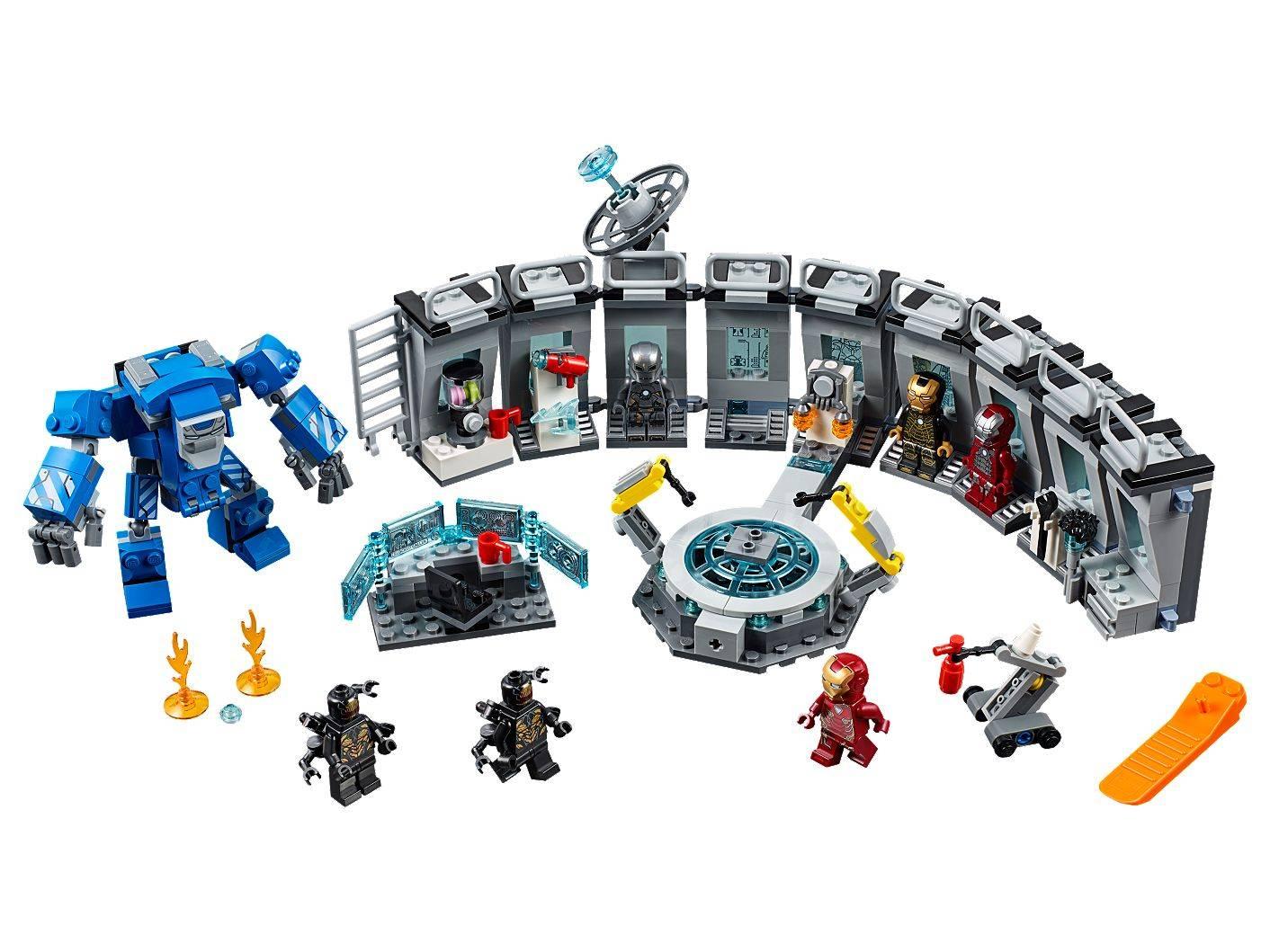 LEGO IRON MAN HALL OF ARMOUR