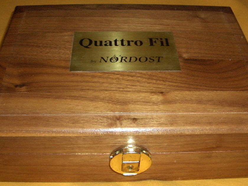 NORDOST   QUATTRO FIL INTERCONNECTS 1 METER PAIR W/RCAs ORIG BOX