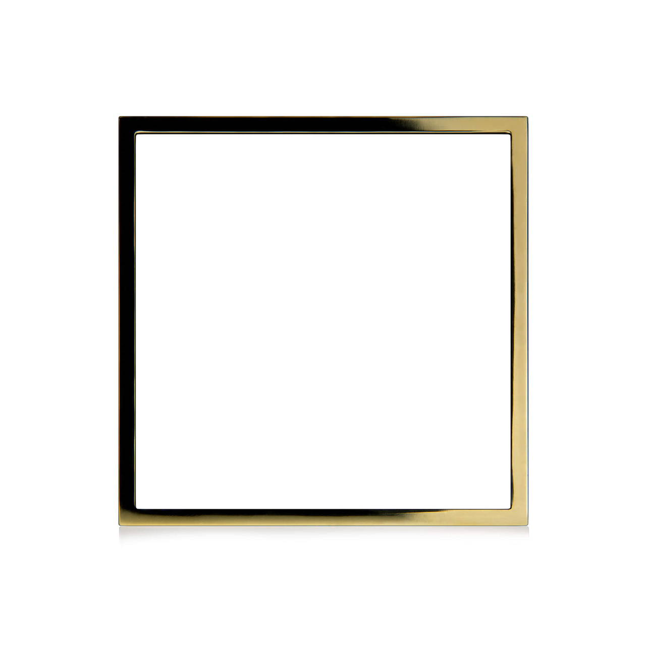 Square Bangle in Brass