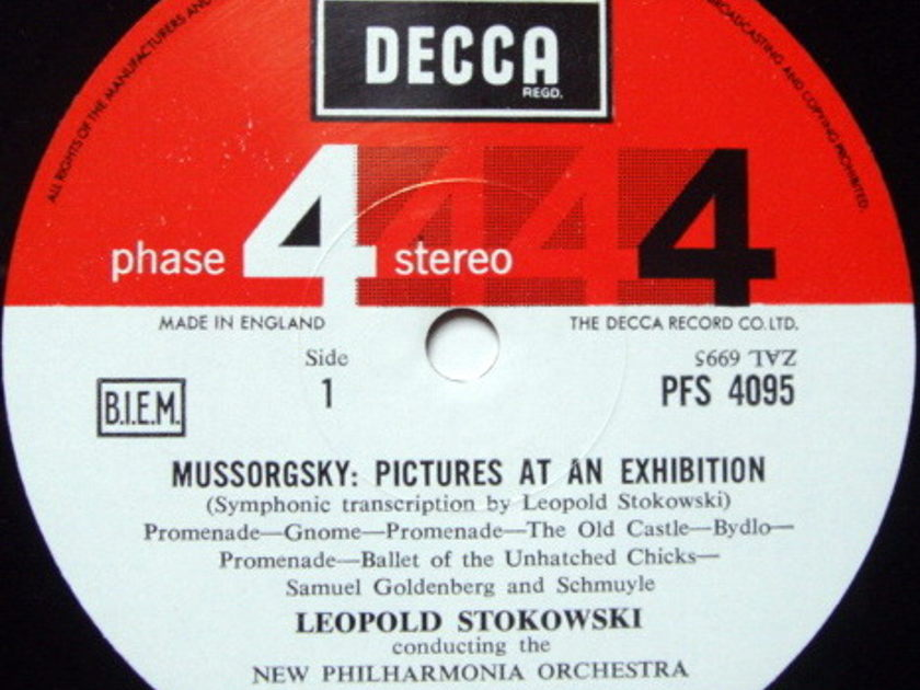 DECCA PHASE 4 STEREO / STOKOWSKI, - Mussorgsky Pictures at an Exhibition, MINT, TAS LP!