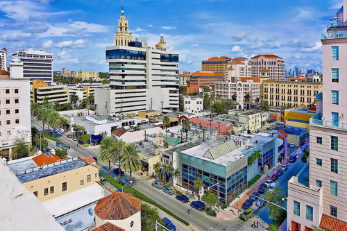 skyview of Coral Gables