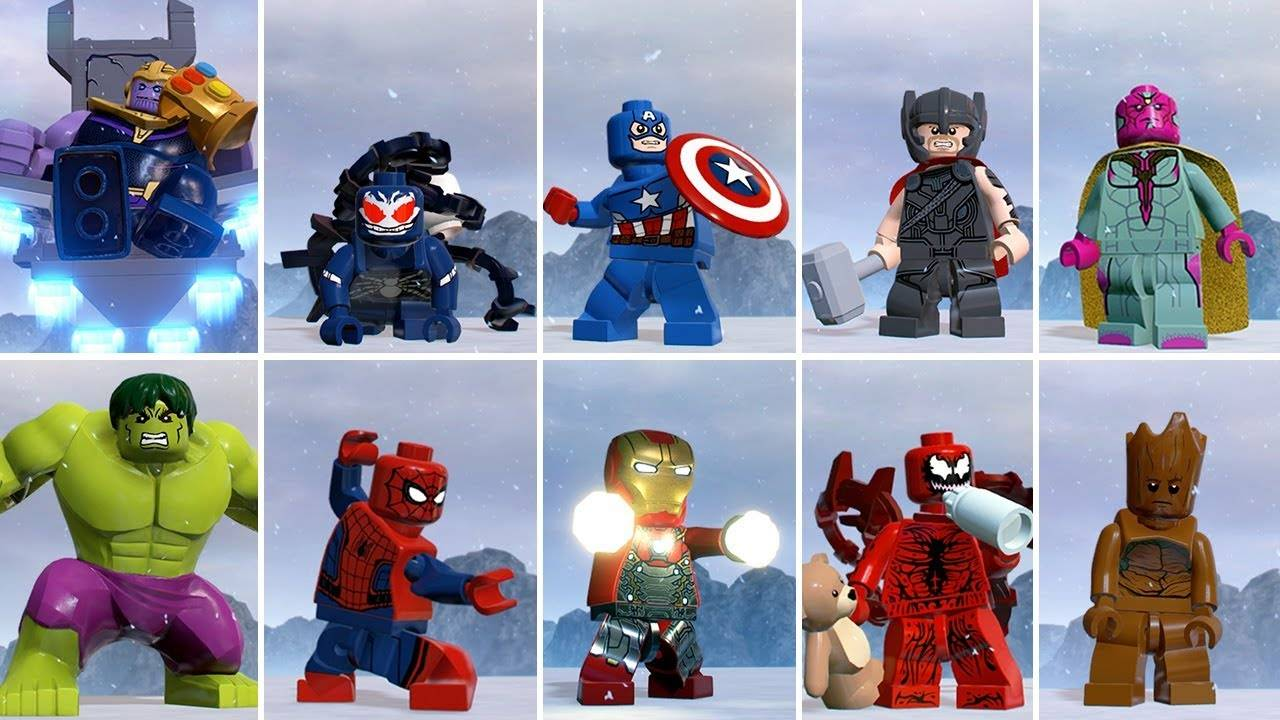 LEGO Marvel cartoon characters