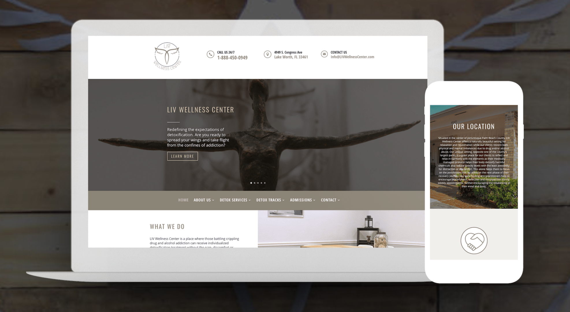 Wellness Center Website Design