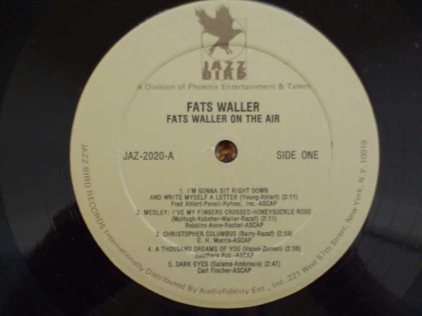 Fats Waller - Jazz Bird Records On The Air