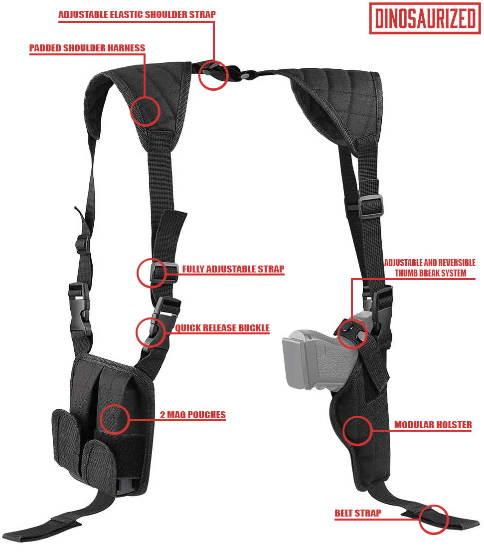 james bond shoulder holster | how baldman shoulder holster works
