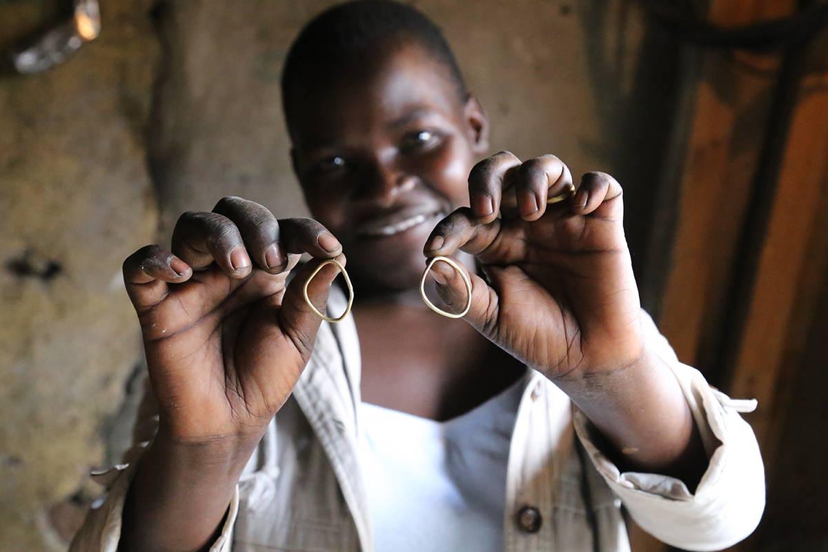 Joyce Akoth, one of SOKO's artisan partners since 2017.
