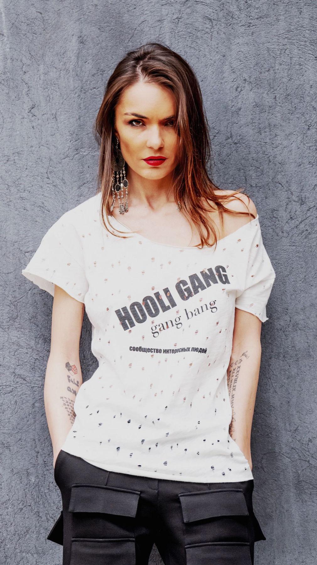 Белая футболка HooliGang