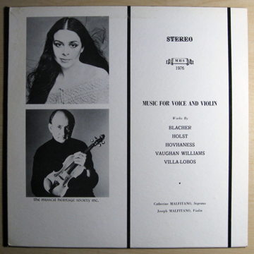 Music For Voice And Violin