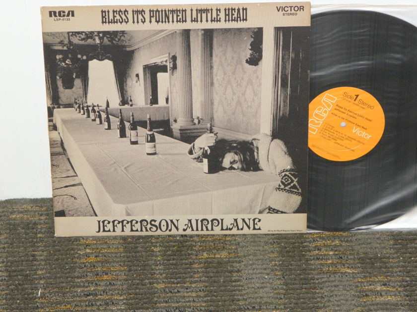 "Jefferson Airplane (NON DYNAFLEX) - ""Bless It's Pointed Little Head"" from 1969  RCA LSP 4133 W/Textured cover and Includes artwork poster"