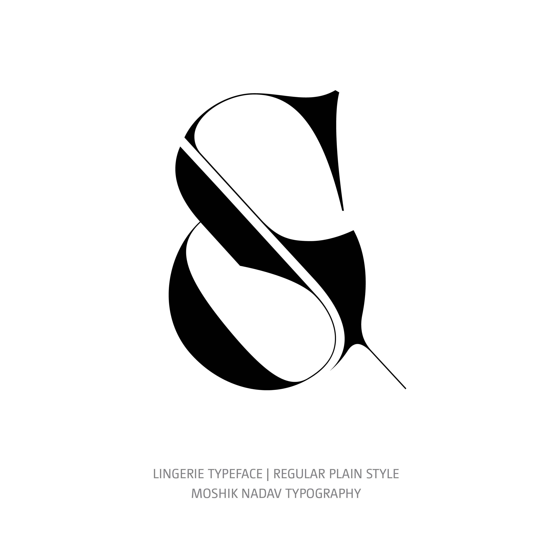 Lingerie Typeface Regular Plain ampersand