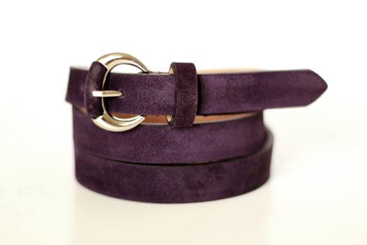 Замшевый ремень (фиолетовый)