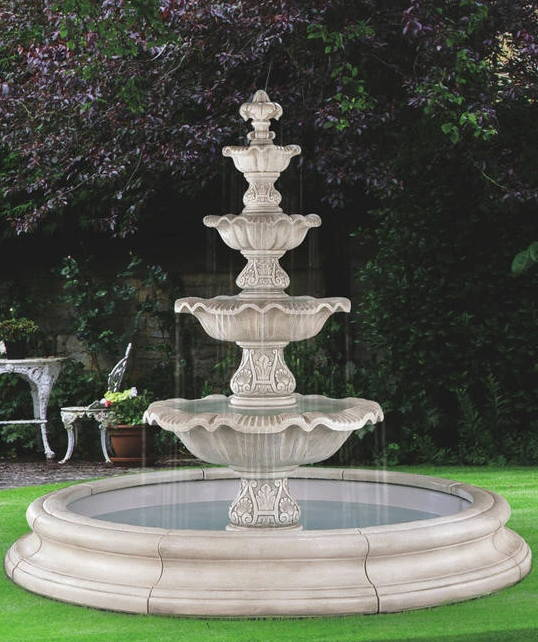 Fountains, Large Fountains, Small Fountains, Tiered Fountains, Fountains with pools, fountains with ponds, modern fountains, garden fountains