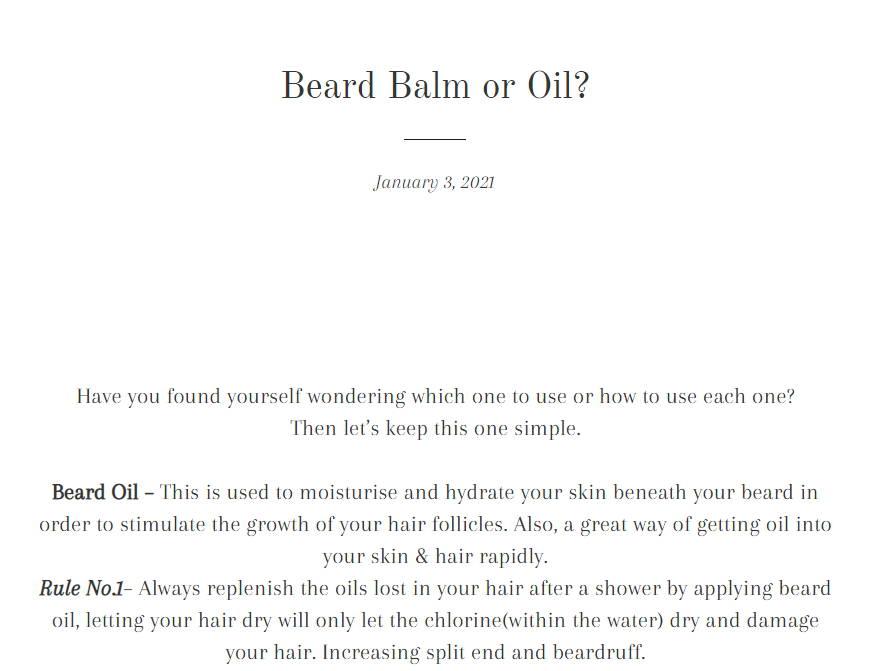 Beard Balm Or Beard Oil Blog