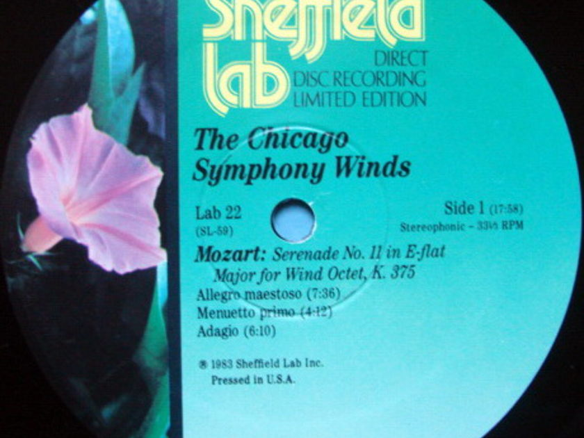 ★Audiophile★ Sheffield Lab / CHICAGO SYMPHONY WIND, - Mozart Serenade No.2, NM!