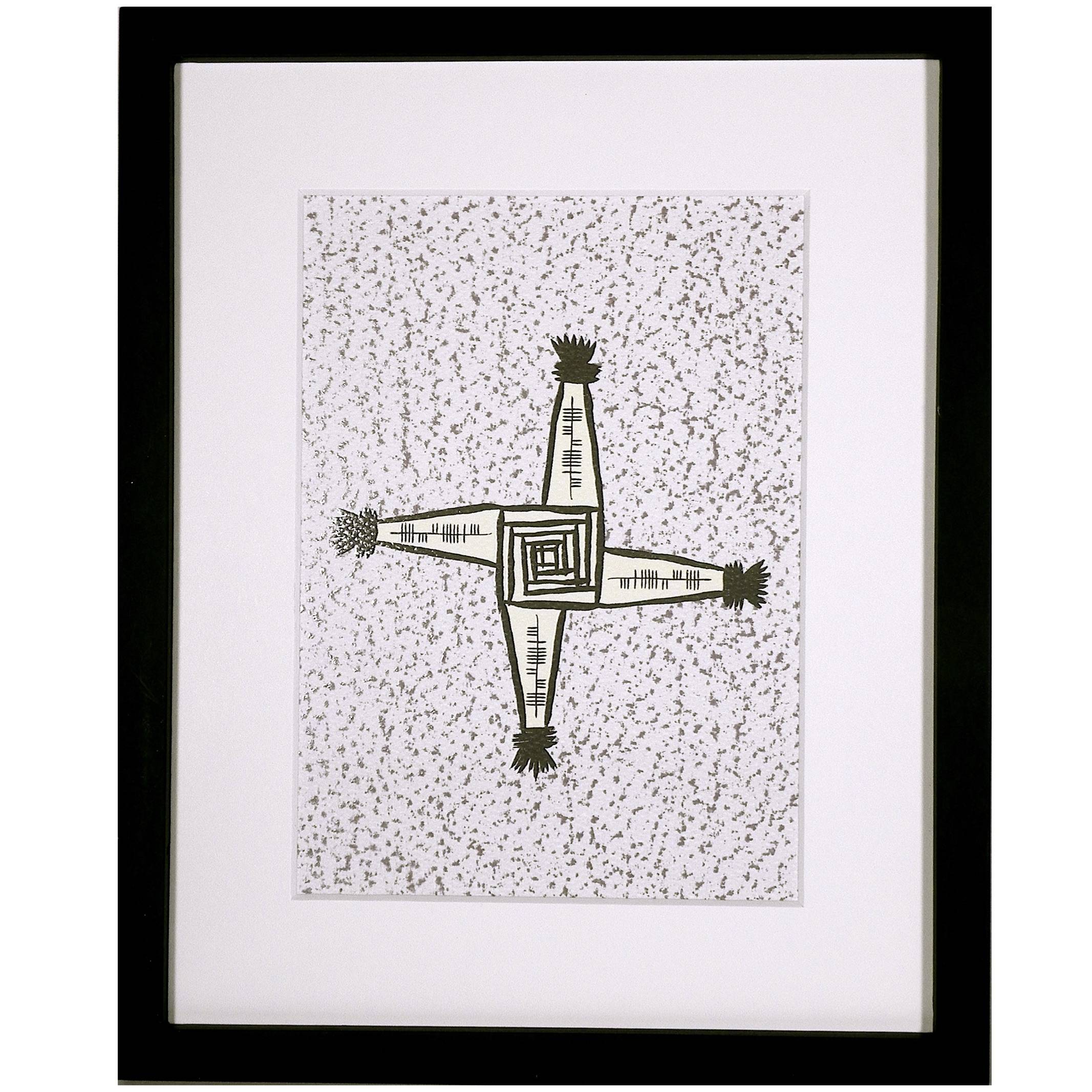 imbolc brigid's cross welcome fáilte framed irish celtic art