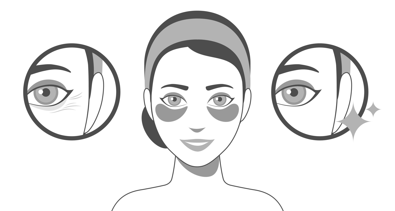 Anwendung GINZAI Eyepatches