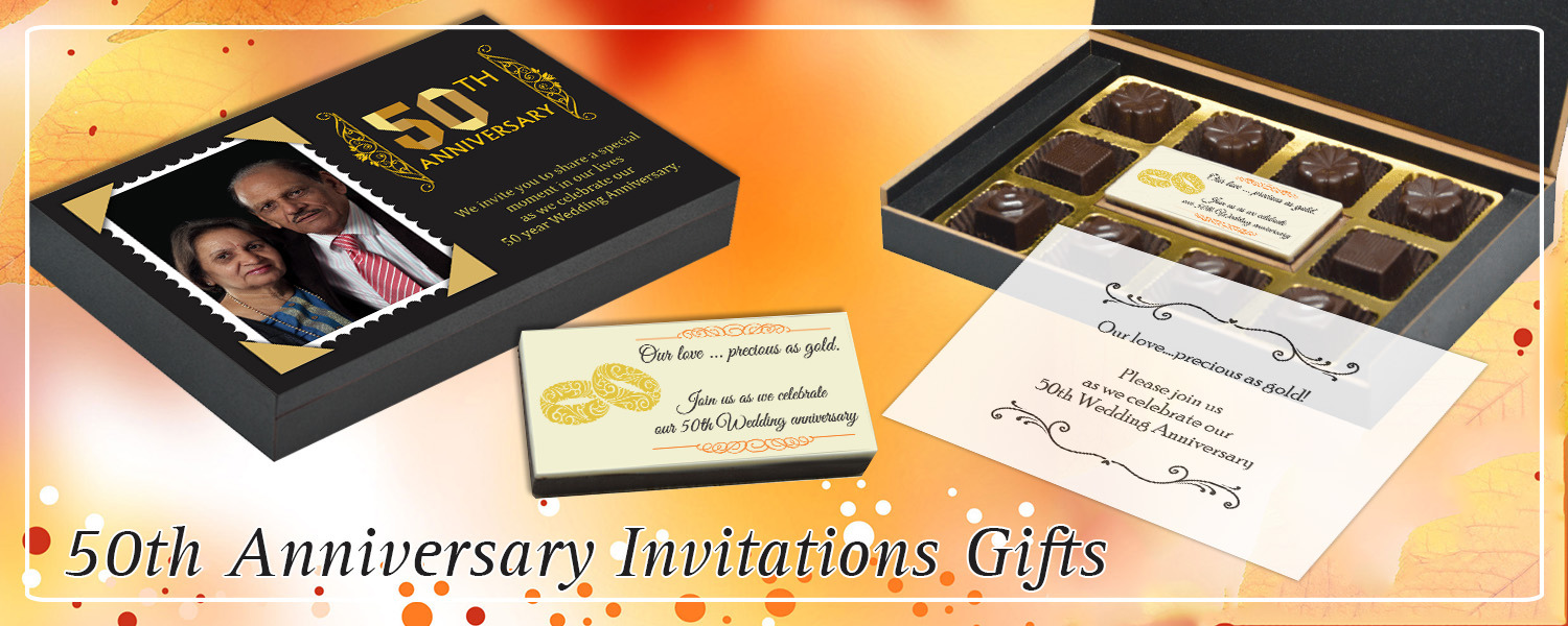 50th Marriage Anniversary Invitation Return Gifts Chococraft