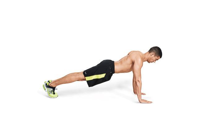 push yourself into a pushup position