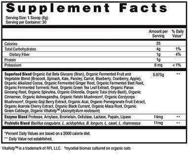 daily essentials supplement facts
