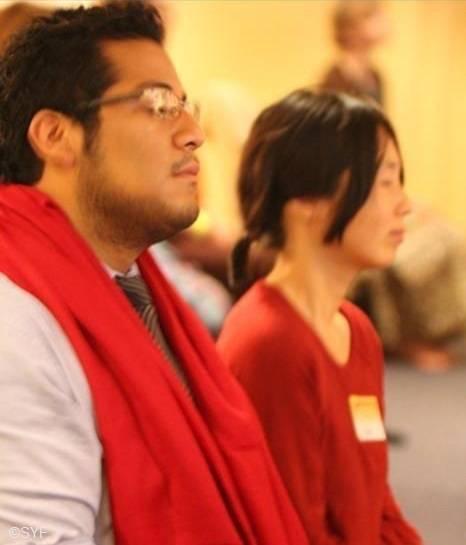 Meditation group in Melbourne Ashram Hall