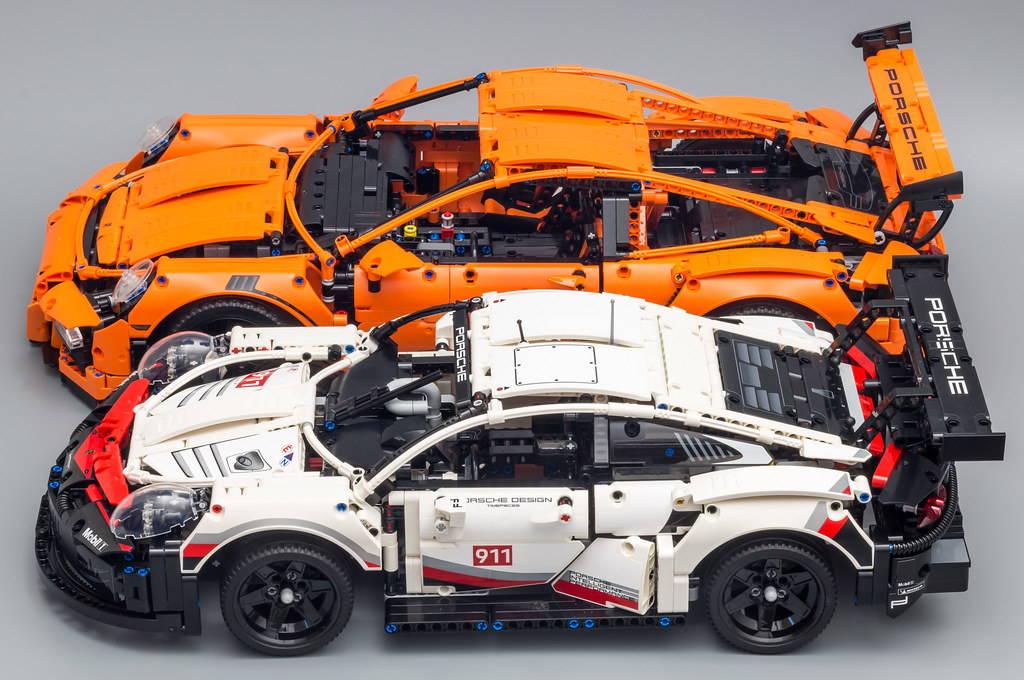 lego Porsche 42056  and lego Porsche 42096