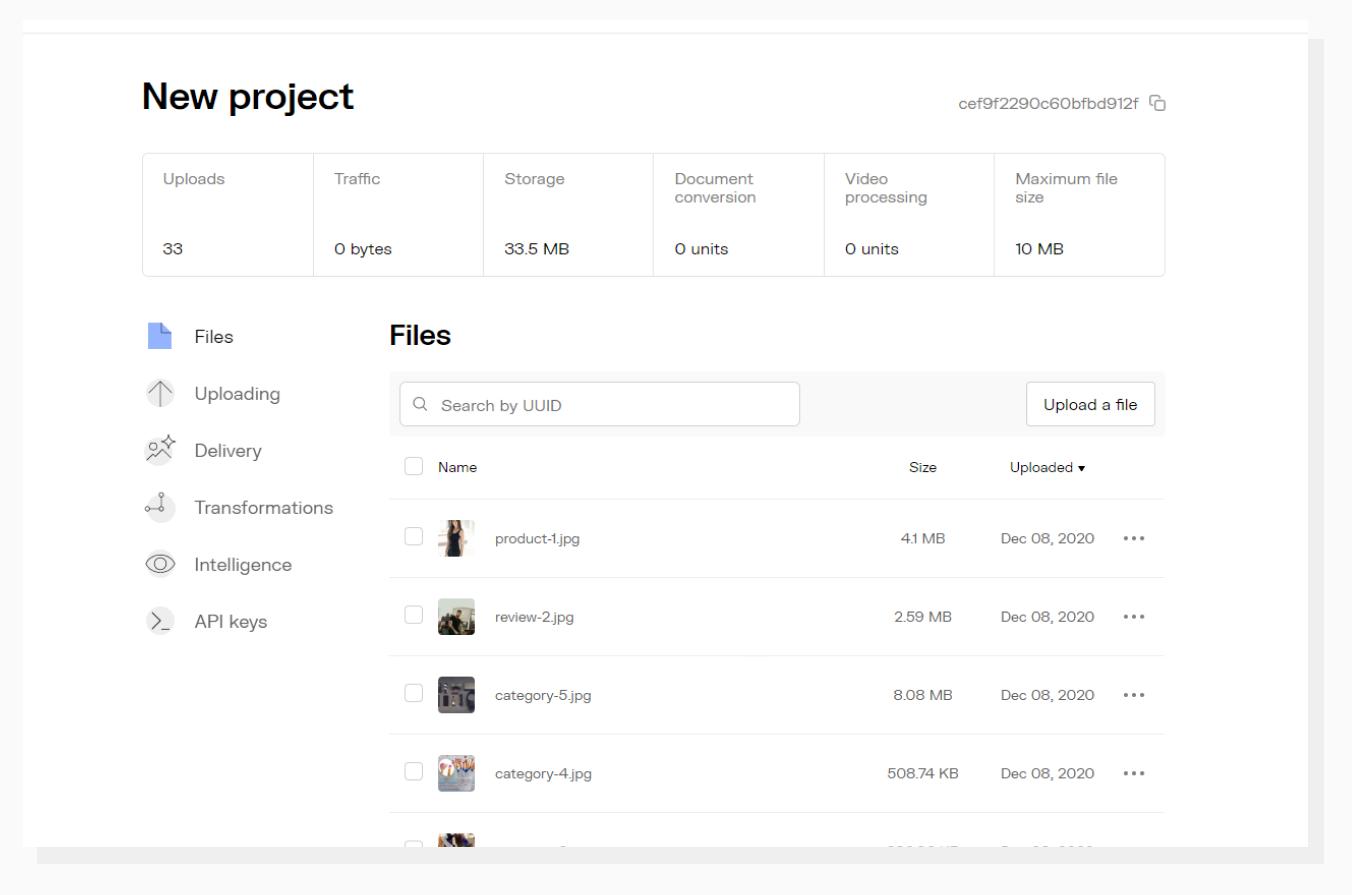 Uploadcare File Manager