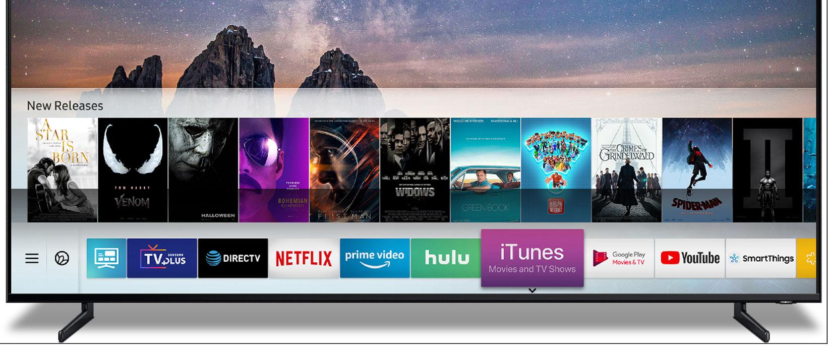 iTunes alkalmazással bővül az új Samsung Smart TV-k kínálata
