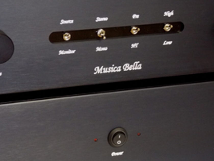 Musica Bella / Response Audio Lusso Dual mono, twin chassis balanced tube preamp unique 6922 design