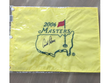 Arnold Palmer Autographed Masters Flag