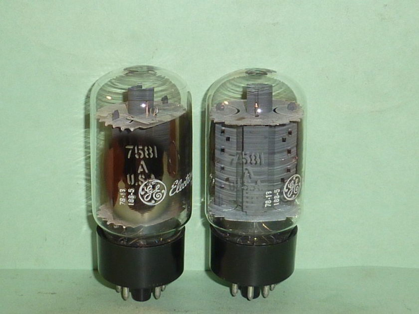 GE 7581A KT-66 Tubes, Matched Pair, Tested, Matched Codes