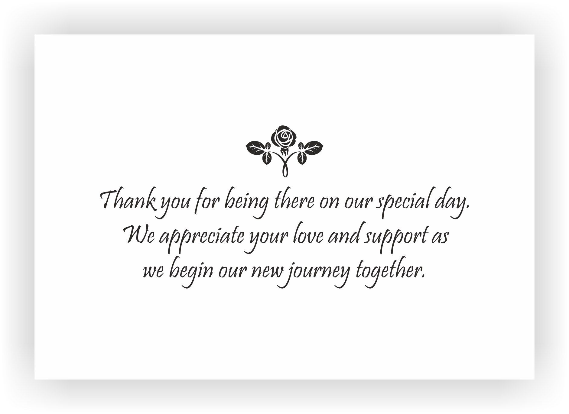 Thank You Note To Accompany Your Wedding Return Gift Chococraft