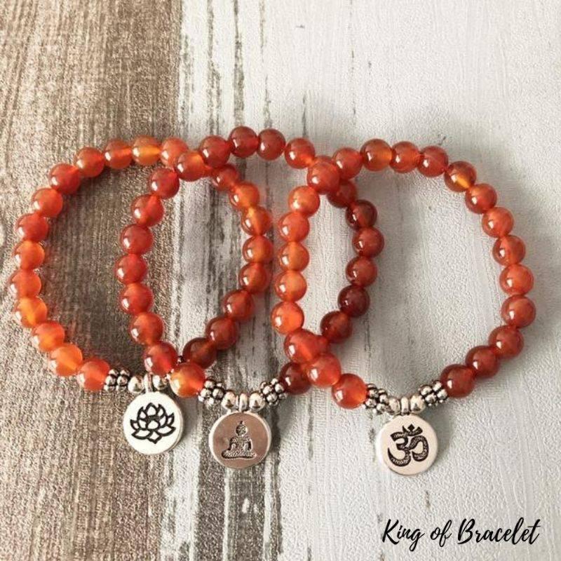 Bracelet de Lithothérapie en Cornaline - King of Bracelet