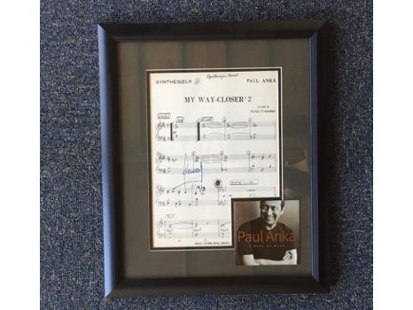Paul Anka Autographed Lyrics Collage