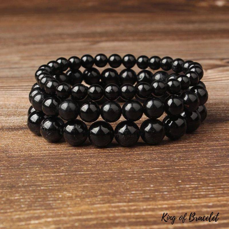 Bracelet en Perles de Tourmaline Noire - King of Bracelet
