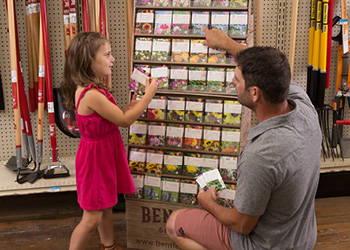 Retail display rack seed packets