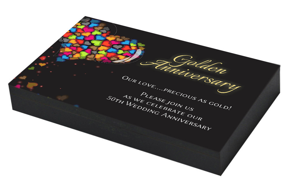 Colorful 50th Anniversary Invitation
