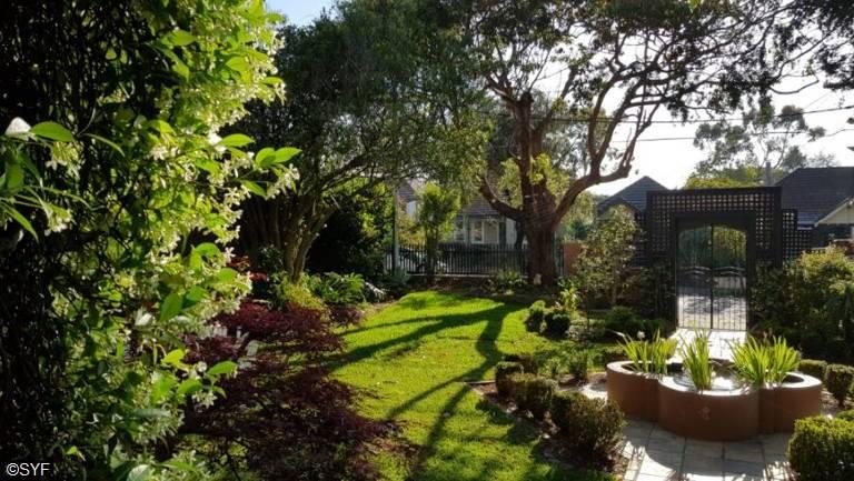 Outside View of Sydney Ashram Garden