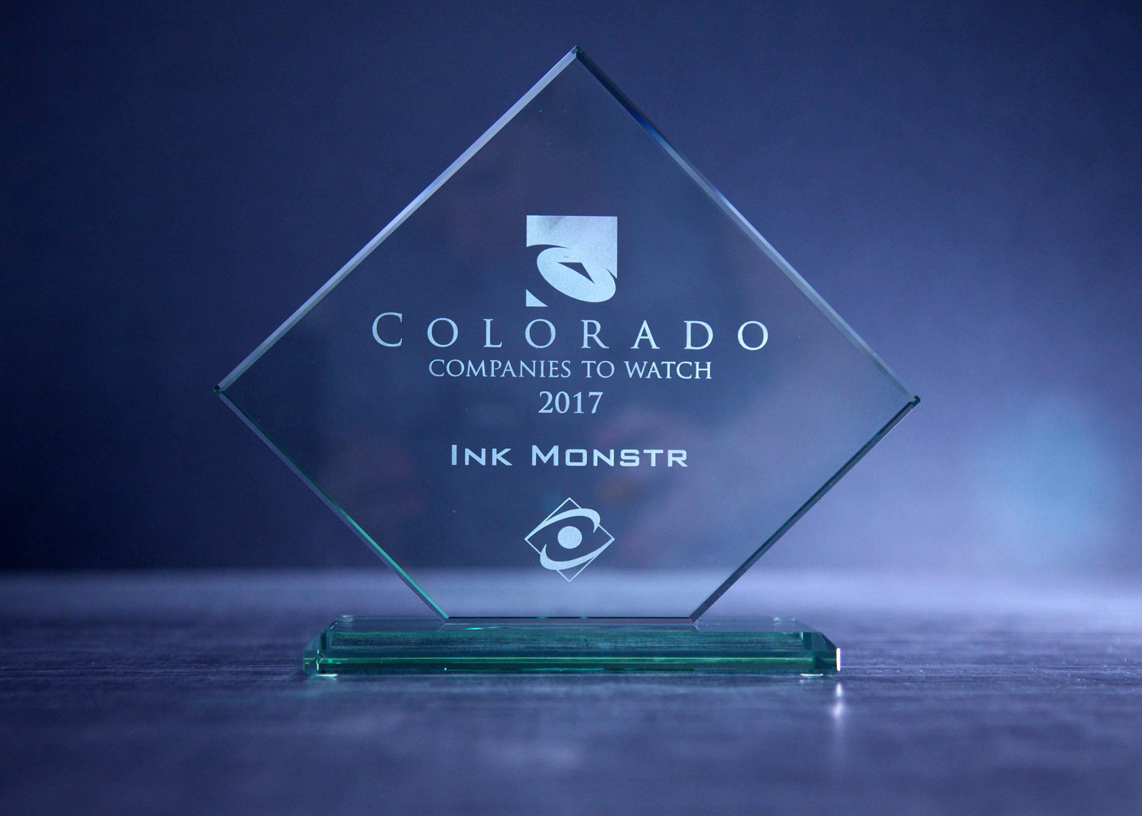 Colorado Company to Watch Award 2017 - Ink Monstr